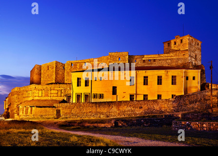 The 'Eptapyrgion' or 'Yedi Kule' (means 'Seven Towers' in Greek and Turkish), the byzantine 'Acropolis' of Thessaloniki, - Stock Photo