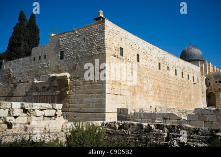 Jerusalem, Israel. 23rd Nov, 2011. Gan HaOfel Archaeological Park under which ancient coins were recently discovered - Stock Photo