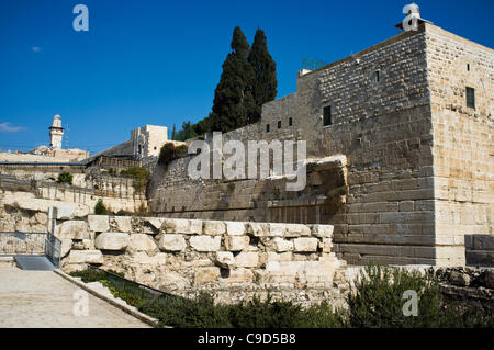 Jerusalem, Israel. 23rd November, 2011. Gan HaOfel Archaeological Park under which ancient coins were recently discovered - Stock Photo