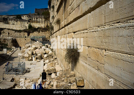 Jerusalem, Israel. 23rd November, 2011. Coins dated 17/18 CE, discovered beneath the Western Wall of Temple Mount, - Stock Photo