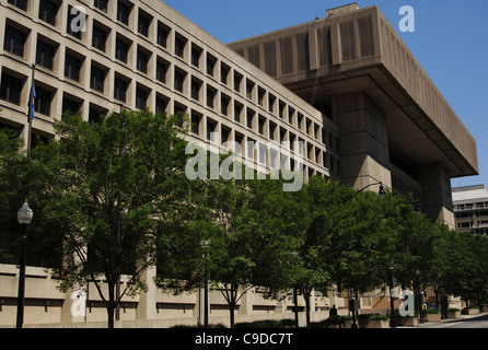 F.B.I. (Federal Bureau of Investigation). Exterior. Washington D.C. United States. - Stock Photo