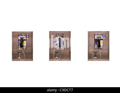 Coin Operated Pay Phones - Stock Photo