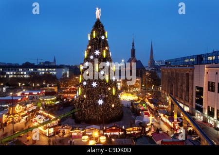 Dortmund/Germany: the world largest Christmas tree - Stock Photo