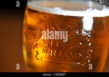 Stella Artois lager, Stella Artois - Stock Photo