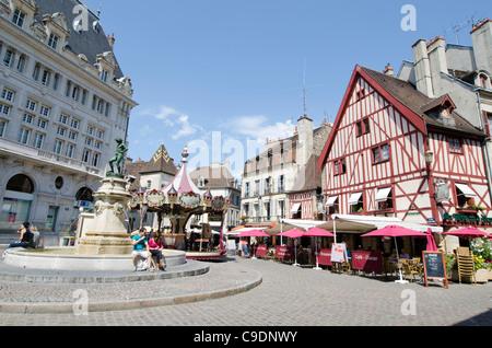 Place Francois Rude Dijon, Côte-d'Or, Burgundy Eastern France. - Stock Photo