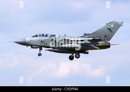 Tornado GR4 operated by the RAF on approach for landing at Fairford, UK - Stock Photo