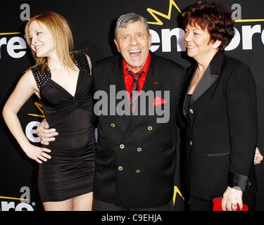 Danielle Sarah Lewis, Jerry Lewis, SanDee Pitnick at arrivals for Method to the Madness of Jerry Lewis Premiere - Stock Photo