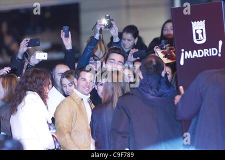 Dec. 12, 2011 - Madrid, Spain - TOM CRUISE attends the 'Mission: Impossible - Ghost Protocol' premiere at the Callao - Stock Photo