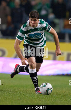 22.12.2011. Lisbon, Portugal.  Portuguese Cup Quarter final - Sporting CP versus SC Maritimo (SCM) Insua Sporting - Stock Photo