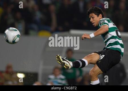 22.12.2011. Lisbon, Portugal.  Portuguese Cup Quarter final - Sporting CP versus SC Maritimo (SCM) A. Martins Sporting - Stock Photo