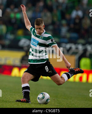 22.12.2011. Lisbon, Portugal.  Portuguese Cup Quarter final - Sporting CP versus SC Maritimo (SCM) Schaars Sporting - Stock Photo