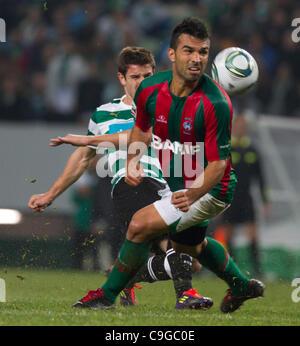 Portugal Cup Quarter final - Sporting CP (SCP) x SC Maritimo (SCM)  Roberto Sousa CS Maritimo Midfielder looking - Stock Photo