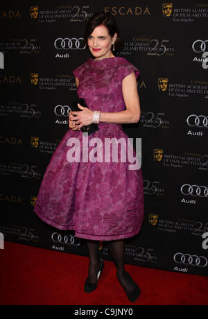 ELIZABETH MCGOVERN BAFTA LOS ANGELES 18TH ANNUAL AWARDS SEASON TEA PARTY BEVERLY HILLS LOS ANGELES CALIFORNIA USA - Stock Photo