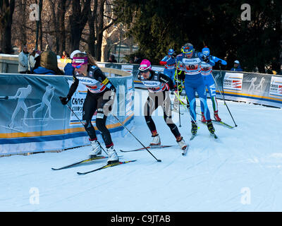 FIS Country Cross World Cup - Milan. 15th Jan, 2012. - Stock Photo