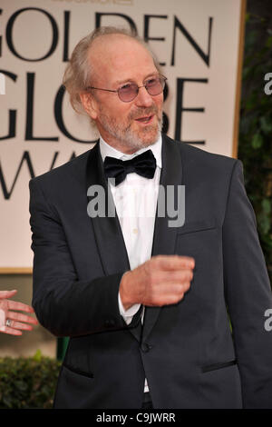 Jan. 15, 2012 - Beverly Hills, California, U.S. - WILLIAM HURT arrives on the red carpet for the 69th annual Golden - Stock Photo