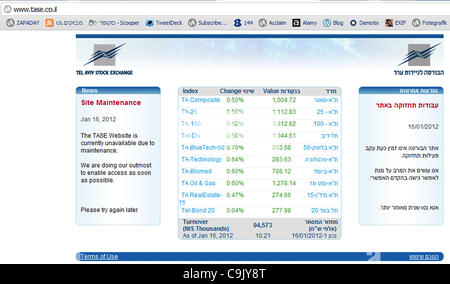 Following a warning sent by Saudi hacker 0xOmar warning the websites of the Tel Aviv Stock Exchange and ElAl Airlines - Stock Photo