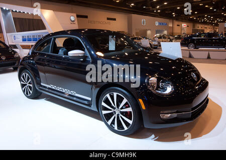 Jan. 25, 2012 - Houston, Texas, U.S - 2012 Volkswagen Beetle Turbo Launch Edition model is on display during the - Stock Photo
