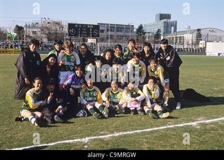 Yomiuri Nippon F.C. Women Beleza team group, MARCH 27, 1994 - Football / Soccer : 15th All Japan Women's Football - Stock Photo
