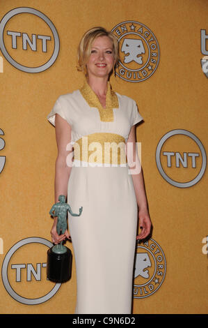 Jan. 29, 2012 - Los Angeles, California, U.S. - Gretchen Mol.18th Annual Screen Actors Guild Awards -pressroom  - Stock Photo