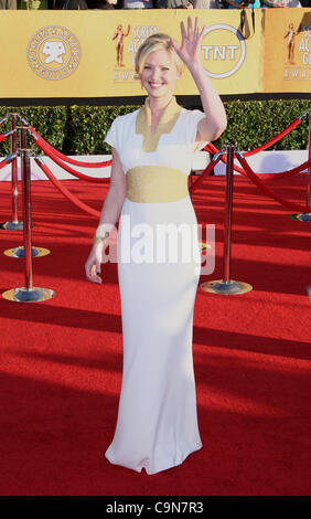 GRETCHEN MOL 18TH ANNUAL SCREEN ACTORS GUILD AWARDS. ARRIVALS DOWNTOWN LOS ANGELES CALIFORNIA USA 29 January 2012 - Stock Photo