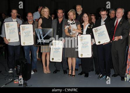 Jan. 31, 2012 - Los Angeles, California, U.S. - Missi Pyle, James Cromwell, Jean Dujardin, Penelope Ann Miller , - Stock Photo