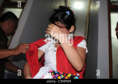 Feb. 2, 2012 - Jakarta, Indonesia - A Thailand citizen,  NARAWADEE POTHIJAK , the defendant smuggler of Methamfetamine - Stock Photo