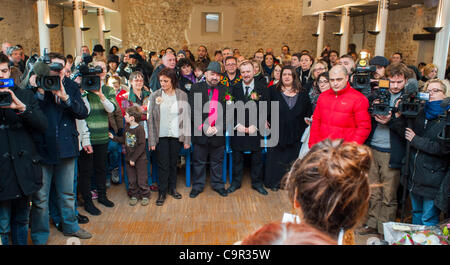 Villejuif, (Paris) France, Male Gay Couple Getting Married in First (Symbolic) Gay Marriage Ceremony at City Hall - Stock Photo