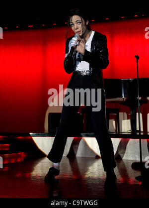 Feb. 20, 2012 - Las Vegas, NV, USA - ICE performs as Michael Jackson at the 21st Annual Reel Awards, which recognize - Stock Photo