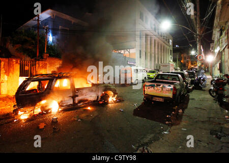 Rio de Janeiro, 20th february 2012 - Police arrested chief of drug dealers in São Carlos favela, in retaliation - Stock Photo