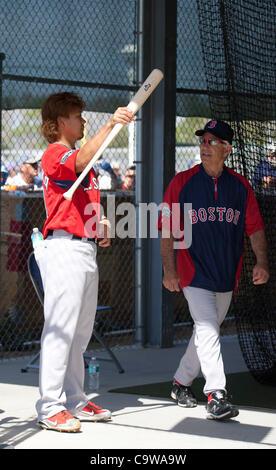 (L-R) Daisuke Matsuzaka, Bobby Valentine (Red Sox), FEBRUARY 21, 2012 - MLB : Boston Red Sox pitcher Daisuke Matsuzaka - Stock Photo