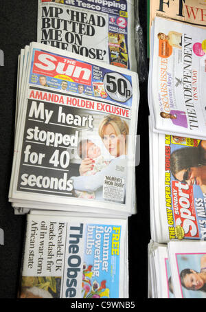 UK, The first edition of News International's The Sun on Sunday newspaper which was launched today, 26th February - Stock Photo