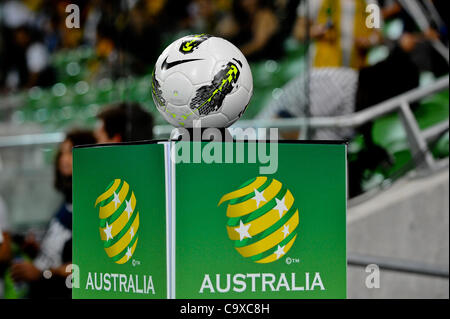 Feb. 29, 2012 - Melbourne, Victoria, Australia - The match ball of the FIFA 2014 World Cup Group D Asian Qualifier - Stock Photo