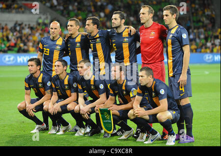 Feb. 29, 2012 - Melbourne, Victoria, Australia - The Australian team pose for a photo during the FIFA 2014 World - Stock Photo