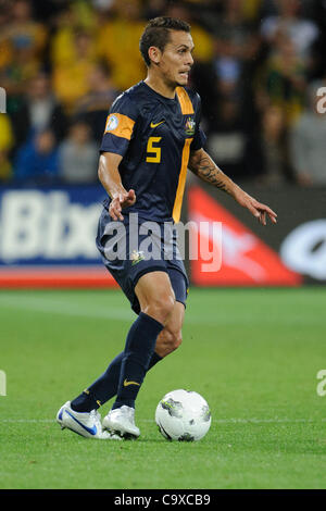 Feb. 29, 2012 - Melbourne, Victoria, Australia - Jade NORTH (5) of Australia controls the ball during the FIFA 2014 - Stock Photo
