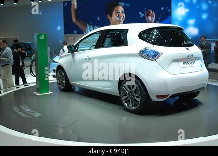 Renault Zoe on the 82 International Motor Show in Geneva, Switzerland, March 7, 2012. (CTK Photo/Jan Sadilek) - Stock Photo
