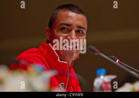 ISTANBUL, TURKEY: Thursday 8 March 2012, Ashton Eaton of the United States of America (USA), heptathlon world record - Stock Photo