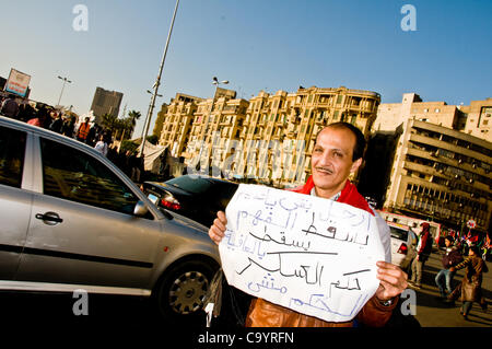 Egyptian citizens continue to flock to Tahrir square with various demands such as the end to military ruling the - Stock Photo