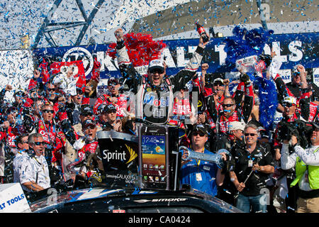 March 11, 2012 - Las Vegas, Nevada, U.S - TONY STEWART, driver of the (14) Mobil 1 / Office Depot Chevrolet Impala, - Stock Photo
