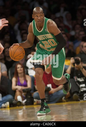 March 11, 2012 - Los Angeles, California, U.S - Ray Allen of the the Boston Celtics as they faced the Los Angeles - Stock Photo