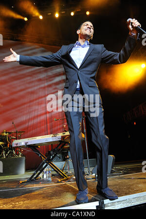 Jul 2, 2011 - New Orleans, Louisiana; USA -  Singer EL DEBARGE performs live as part of the 17th Annual Essence - Stock Photo