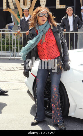 March 28, 2012 - Los Angeles, California, U.S. - Steven Tyler.Aerosmith Press Conference For Their Upcoming ''Global - Stock Photo