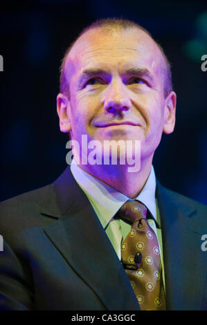 Sir Terry Leahy, former Tesco CEO talking about his new book 'Management in 10 Words' at The Telegraph Hay Festival, - Stock Photo