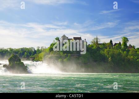 Rhine Falls. Northern Svitserland. Europe. - Stock Photo