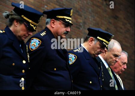June 12, 2012 - Manhattan, New York, U.S. - Members of the Police Department on the dais with Police Commissioner - Stock Photo