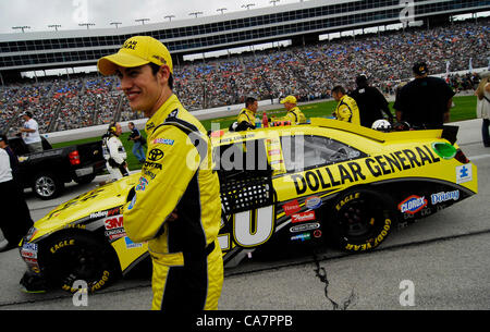 April 14, 2012 - Fort Worth, TX, USA - April 14, 2012 Ft. Worth, Tx. USA. Joey Logano before the NASCAR Sprint Cup - Stock Photo