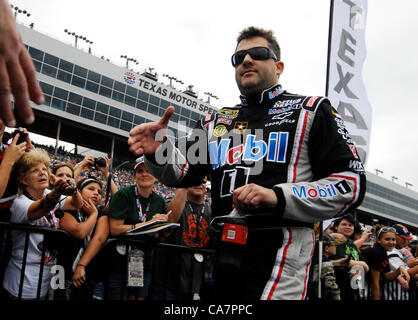 April 14, 2012 - Fort Worth, TX, USA - April 14, 2012 Ft. Worth, Tx. USA. Tony Stewart before the NASCAR Sprint - Stock Photo