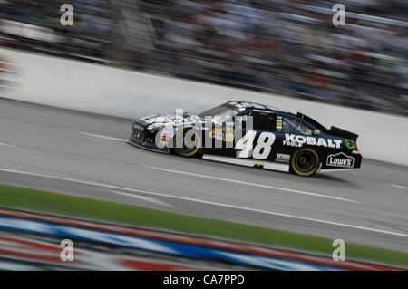 April 14, 2012 - Fort Worth, TX, USA - April 14, 2012 Ft. Worth, Tx. USA. Jimmie Johnson during the NASCAR Sprint - Stock Photo