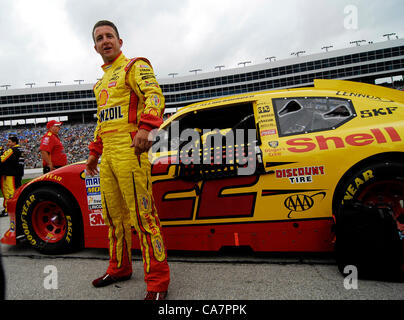 April 14, 2012 - Fort Worth, TX, USA - April 14, 2012 Ft. Worth, Tx. USA. A.J. Allmendinger before the NASCAR Sprint - Stock Photo
