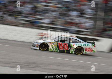 April 14, 2012 - Fort Worth, TX, USA - April 14, 2012 Ft. Worth, Tx. USA. Dale Earnhardt Jr. during the NASCAR Sprint - Stock Photo