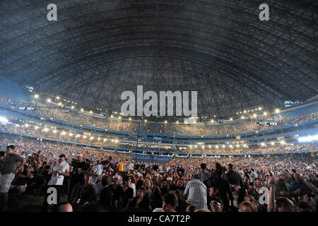 June 23, 2012 - Toronto, Canada - Concert goers waiting for Roger Waters to perform at the Rogers Centre during - Stock Photo